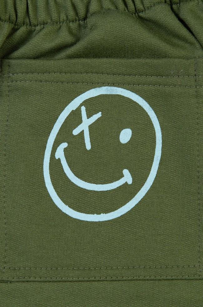 Calça Moletom Vntg Verde Militar