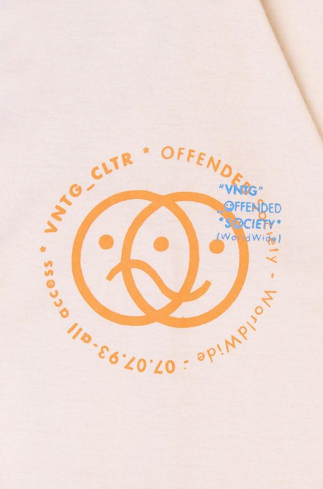 Camiseta Ampla Vntg Bege