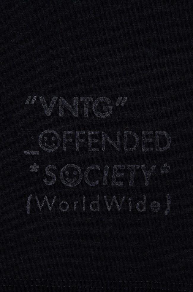 Camiseta Gola Alta Vntg Preta