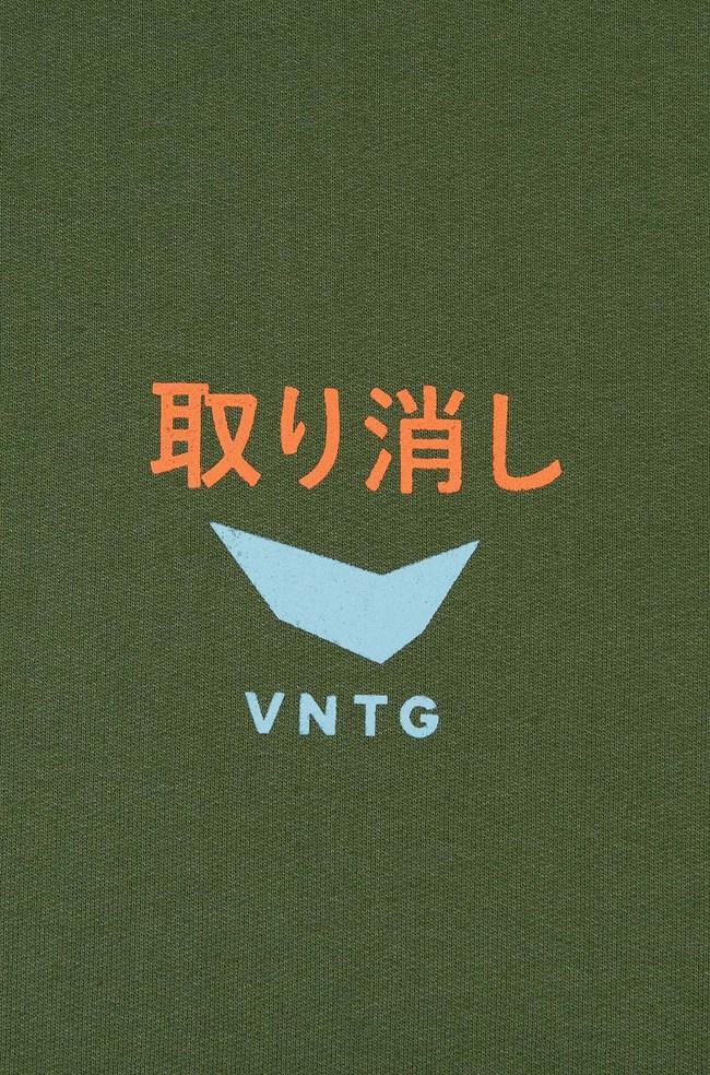Moletom Canguru Vntg Verde Militar